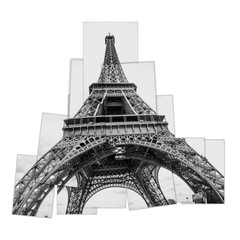 Eiffel Tower collage made with close up pictures.