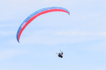 Foto op Canvas Luchtsport paragliders on the sky