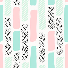 Abstract Brush Strokes Pattern