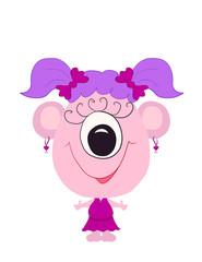 funny little pink monster girl