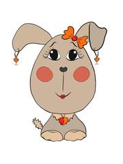 funny dog girl
