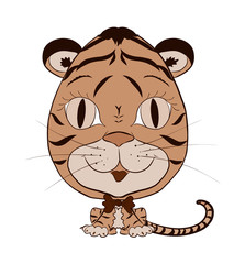 small, funny tiger