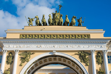 arch of the general staff on palace square