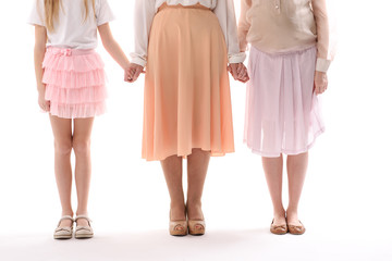 Different aged female persons together
