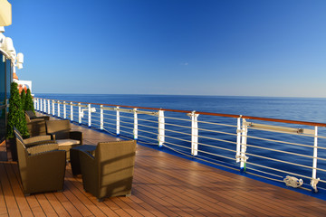 Open deck on cruise ship