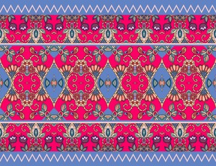 Candy wrap. Vector template. Beautiful floral pattern. Print for fabric.
