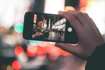 Smartphone Photography on Times Square - New York