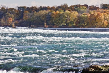 Beautiful image with amazing powerful Niagara river