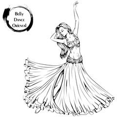 Dance line belly dance