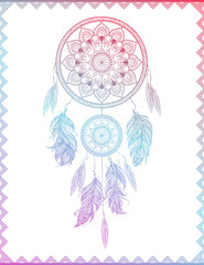 Dreamcatcher in gradient, vector illustration
