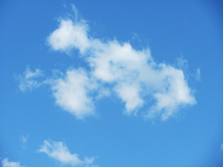 photo of white clouds on blue sky