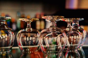 set of glass goblets