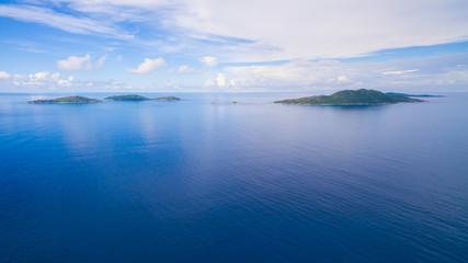 Inseln der Seychellen im indischen Ozean