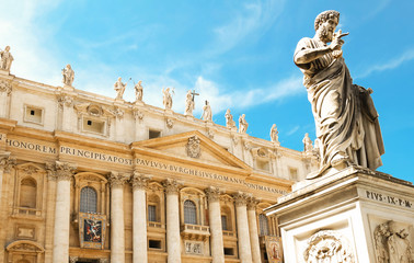 The view at St. Peter's Basilica in Rome,.
