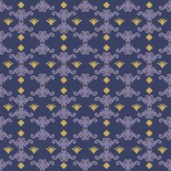 Pattern Floral Blu E Oro Su Sfondo Bianco Buy This Stock