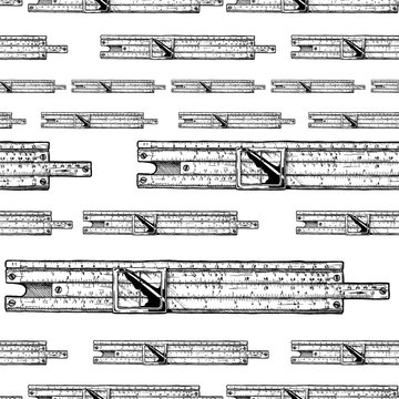 Pattern with slide rules