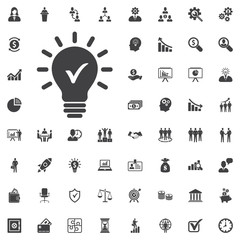 Check innovative idea icon.