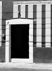 front door houses architecture mexico black and white
