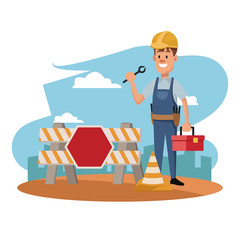 labor day construction man employee celebration international vector illustration