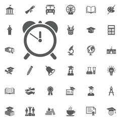 alarm clock icon isolated