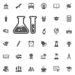 laboratory glass icon