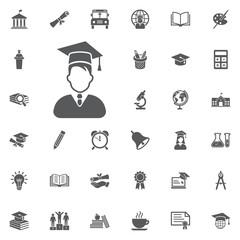 Avatar with Graduation Cap icon.