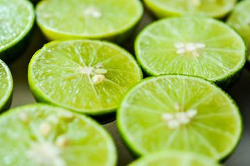 limes Backgrounds, Close up shot, fruit macro photography