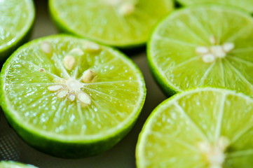 limes Backgrounds, Close up shot, fruit macro photography
