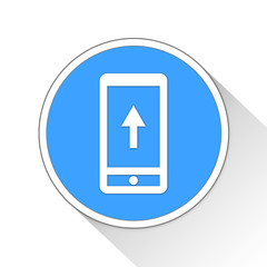 Mobile Upload Button Icon Business Concept