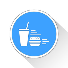 Fast Food Button Icon Business Concept