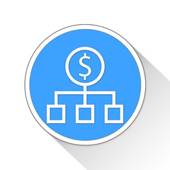 Money Source Button Icon Business Concept