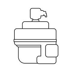 Warrior Pixelated videogame icon vector illustration graphic design