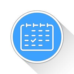 Calendar Button Icon Business Concept