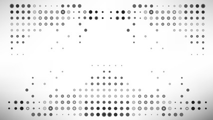 Vector illustration multiple grey dot abstract background
