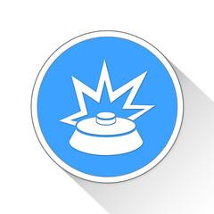 Land Mine Button Icon Business Concept