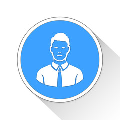 Man Button Icon Business Concept