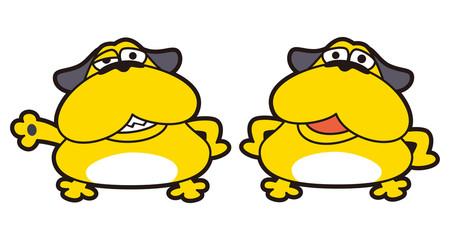 黄色い犬のキャラクター、ブル