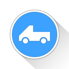pickup truck Button Icon Business Concept