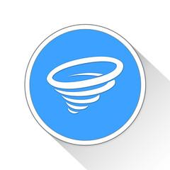 Tornado Button Icon Business Concept