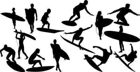 サーフィンのシルエット