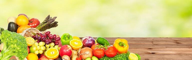 Vegetables and fruits. Wall mural
