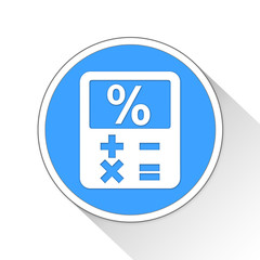 Finance calculator Button Icon Business Concept