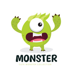kids monster logo