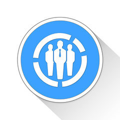 Target users Button Icon Business Concept