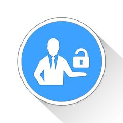 open source Button Icon Business Concept