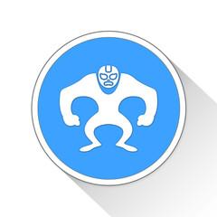 Lucha Libre Button Icon Business Concept