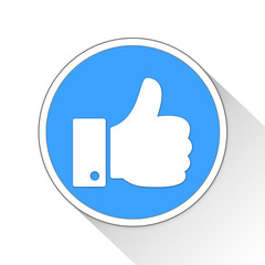 thumbs up Button Icon Business Concept