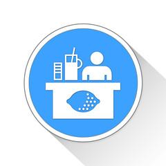 lemonade stand Button Icon Business Concept