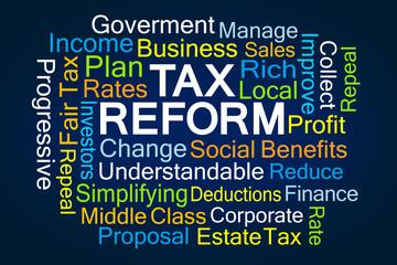 Tax Reform Word Cloud