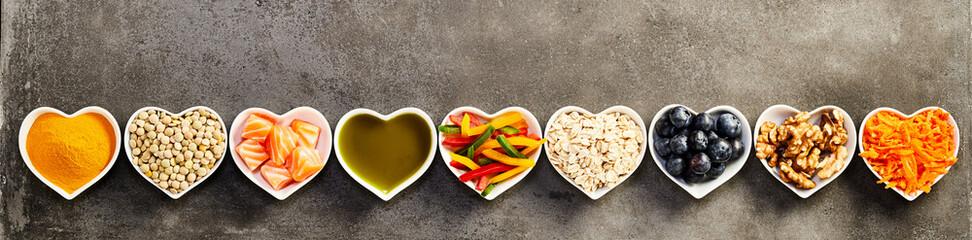 Healthy cooking ingredients banner concept
